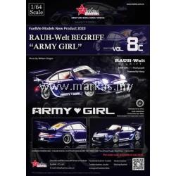 FUELME 1/64 RAUH-WELT BEGRIFF RWB993 ARMY GIRL PEARL PURPLE (8C)