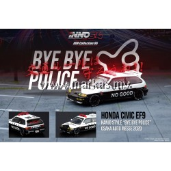 INNO MODELS INNO64 1/64 HONDA CIVIC EF9 KANJO STYLE BYE BYE POLICE OSAKA AUTO MESSE 2020 JDM COLLECTION