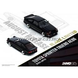 (PO) INNO MODELS INNO64 1/64 TOYOTA SPRINTER TRUENO AE86 BLACK LIMITED