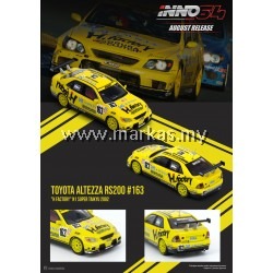 (PO) INNO MODELS INNO64 1/64 TOYOTA ALTEZZA RS200 #163 H FACTORY N1 SUPER TAIKYU 2002