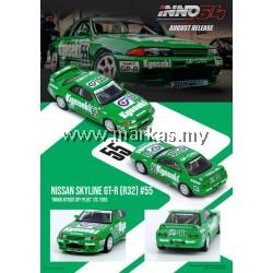 (PO) INNO MODELS INNO64 1/64 NISSAN SKYLINE GT-R R32 #55 NIKKO KYOSEI GP1 PLUS JTC 1993