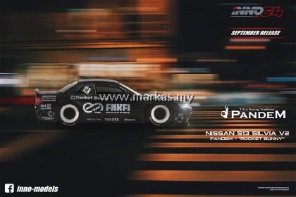 INNO MODELS INNO64 1/64 NISSAN SILVIA S13 ROCKET BUNNY V2 MATTE BLACK ENKEI