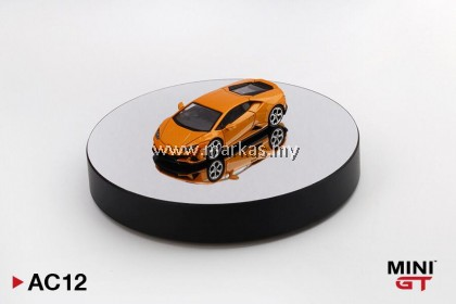 (PO) MINI GT 1/64 AC12 DISPLAY TURNTABLE BLACK *DIECAST CAR NOT INCLUDED