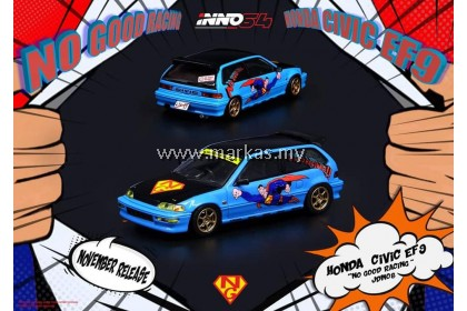 INNO MODELS INNO64 1/64 HONDA CIVIC EF9 NO GOOD RACING JDM COLLECTION SUPERMAN