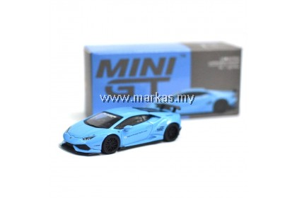 MINI GT 1/64 #189 LB WORKS LAMBORGHINI HURACAN VER.1 LIGHT BLUE