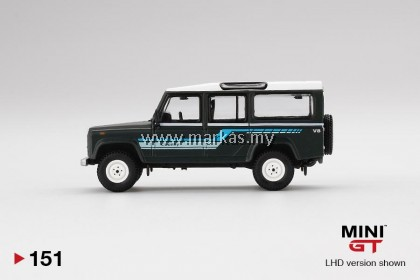 MINI GT #151 1/64 LAND ROVER DEFENDER 110 1985 COUNTRY STATION WAGON GREY