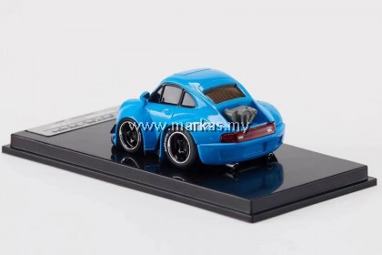 YOU&CAR X FURUYA 1/64 RWB 993 Q BABY BLUE WITH 1/64 Q VERSION OF NAKAI KAI DOLL COMES WITH TWO SETS OF REAR WING