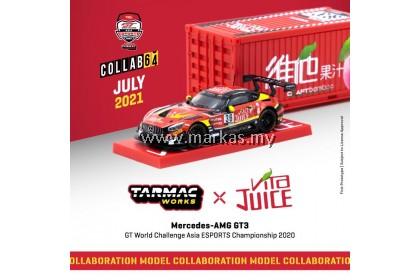 (PO) TARMAC WORKS COLLLAB64 1/64 MERCEDES AMG GT3 GT WORLD CHALLENGE ASIA ESPORTS CHAMPIONSHIP 2020 MATT SOLOMON - JUICE
