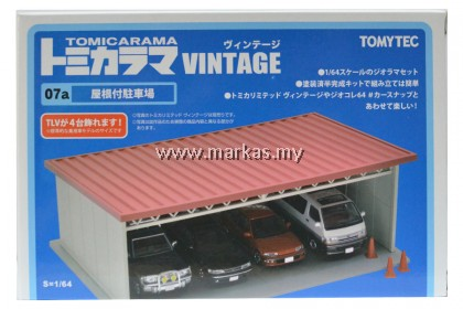 TOMYTEC TOMICA LIMITED VINTAGE 1/64 TOMICARAMA 07A PARKING WITH ROOF