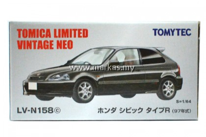 TOMICA LIMITED VINTAGE LV-N158C HONDA CIVIC TYPE R 97 BLACK