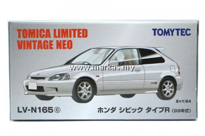 TOMICA LIMITED VINTAGE LV-N165C HONDA CIVIC TYPE R 99 WHITE