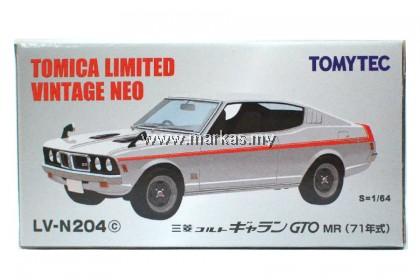 TOMICA LIMITED VINTAGE 1/64 LV-N204C MITSUBISHI COLT GALANT GTO MR WHITE