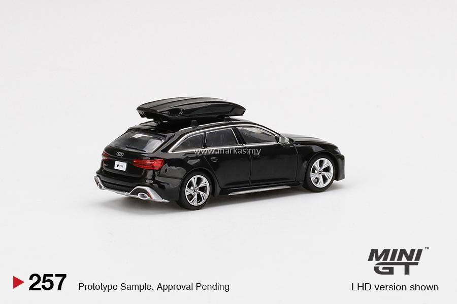 (PO) MINI GT 1/64 #257 AUDI RS6 AVANT MYTHOS BLACK ...