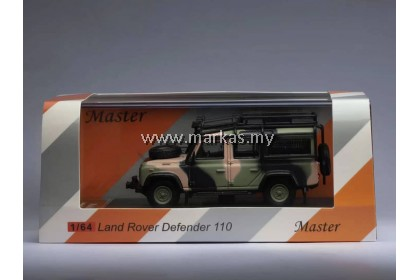 (PO) MASTER MODEL 1/64 LAND ROVER DEFENDER CAMOUFLAGE LIMITED