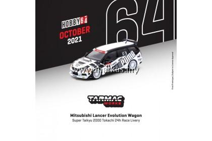 (PO) TARMAC WORKS ROAD64 1/64 MITSUBISHI LANCER EVOLUTION WAGON SUPER TAIKYU 2000 TOKACHI 24H RACE LIVERY