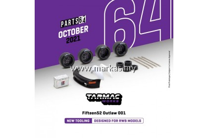 (PO) TARMAC WORKS PART64 1/64 FIFTEEN52 OUTLAW 001 DESIGNED FOR RWB MODELS BLACK