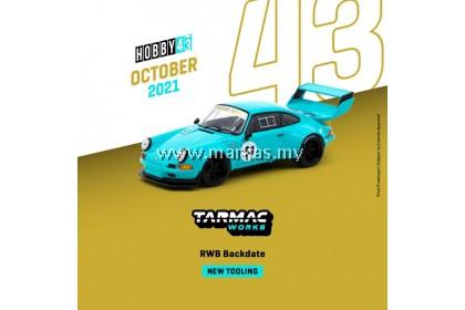 (PO) TARMAC WORKS HOBBY43 1/43 PORSCHE RWB BACKDATE BLUE