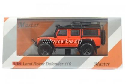 MASTER MODEL 1/64 LAND ROVER DEFENDER 110 ORANGE WITH ACCESSORIES