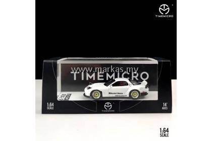 TIME MICRO 1/64 MAZDA RX7 ROCKET BUNNY WHITE