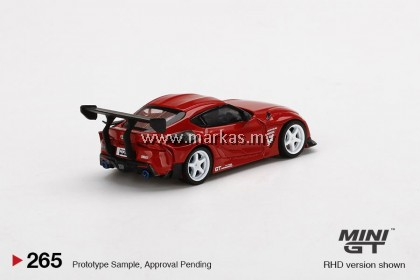 (PO) MINI GT 1/64 #265 HKS TOYOTA GR SUPRA RENAISSANCE RED