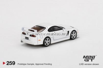 (PO) MINI GT 1/64 #259 TOYOTA TRD 3000GT SUPER WHITE