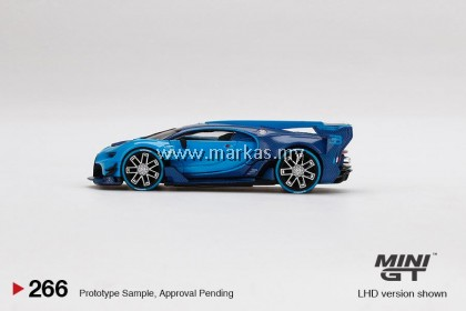 (PO) MINI GT 1/64 #266 BUGATTI VISION GRAN TURISMO BLUE