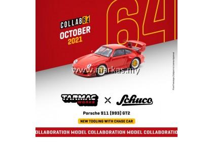 (PO) TARMAC WORKS X SCHUCO 1/64 PORSCHE 911 (993) GT2 RED