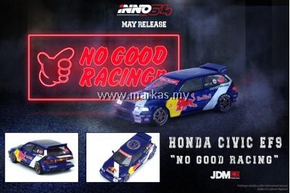 INNO MODELS INNO64 1/64 JDM HONDA CIVIC EF9 NO GOOD RACING REDBULL