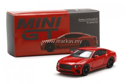 MINI GT 1/64 #216 BENTLEY CONTINENTAL GT ST JAMES RED