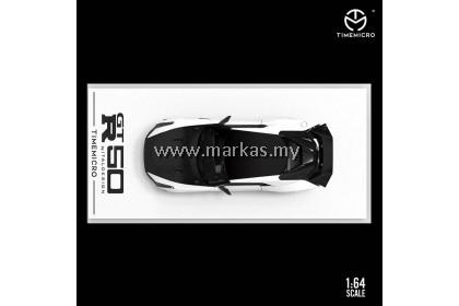 TIME MICRO 1/64 NISSAN GTR50 ITALDESIGN WHITE BLACK TESTCAR