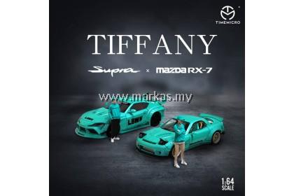 TIME MICRO 1/64 MAZDA RX-7 LBWK TIFFANY WITH FIGURE
