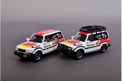MASTER MODEL 1/64 LAND CRUISER LC80 NO. 8155 BAJA 1000 RALLY MEXICO WITH ACCESSORIES