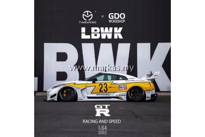 (PO) TIME MICRO X GDO WOKESHOP 1/64 LBWK GTR 3.0 #23 YELLOW / WHITE