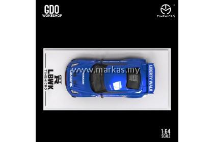 (PO) TIME MICRO X GDO WOKESHOP 1/64 LBWK GTR 3.0 #12 CALSONIC BLUE