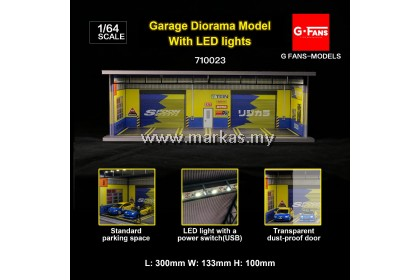 (PO) G-FANS MODELS 1/64 GARAGE SCENE SPOON DIORAMA WITH LED LIGHT