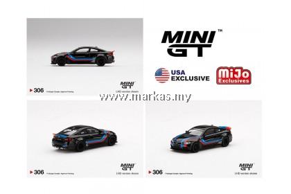(PO) MINI GT X MIJO EXCLUSIVE 1/64 #306 LB★WORKS  BMW M4 BLACK WITH M STRIPE