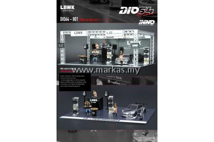 (PO) DIO64 BY INNO 1/64 DIO64-001 LBWK AUTO SALON SET - CAR INCLUDED  LBWK 997 CHROME FINISH