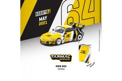 TARMAC WORKS 1/64 RWB 993 TARMAC WITH METAL CAN
