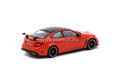 TARMAC WORKS GLOBAL64 1/64 MERCEDES BENZ C63 AMG COUPE BLACK SERIES RED