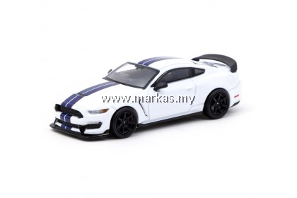 TARMAC WORKS GLOBAL64 1/64 FORD MUSTANG SHELBY GT350R WHITE METALLIC