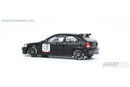 INNO MODELS INNO64 1/64 JDM HONDA CIVIC TYPE-R EK9 NO GOOD RACING BLACK