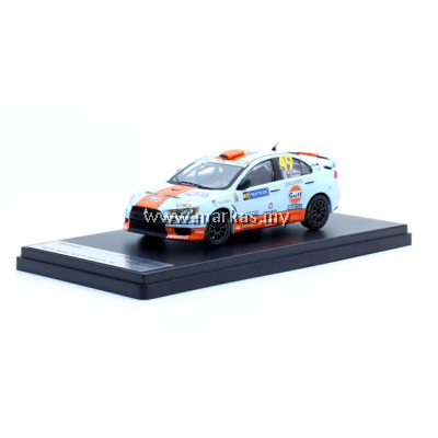 TARMAC WORKS - MITSUBISHI LANCER EVO X GULF RACING #49 J.SALO RALLY FINLAND *LIMITED EDITION 500 UNITS ONLY