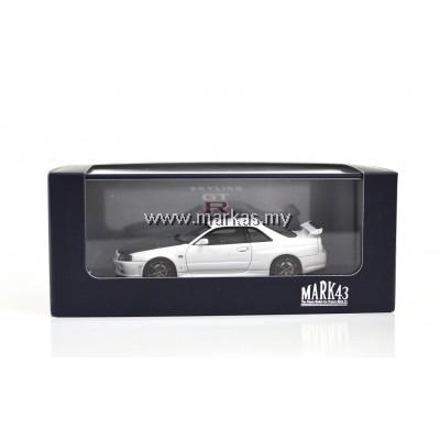 MARK43 1/43 NISSAN SKYLINE GT-R V SPEC II (BNR 34) CARBON BONNET WHITE