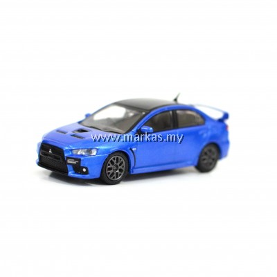TARMAC WORKS - 1/64 MITSUBISHI LANCER EVOLUTION X FINAL EDITION OCTANE BLUE