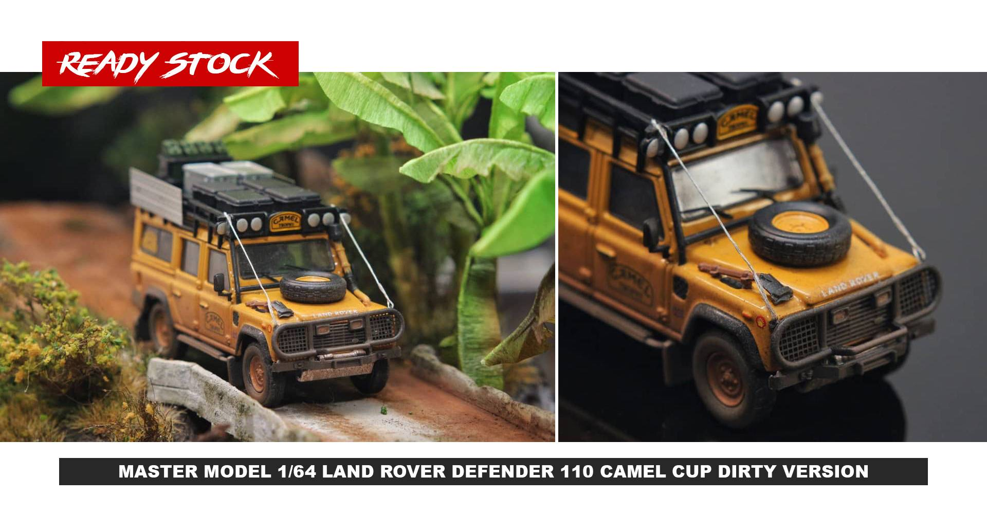 MASTER MODEL 1/64 LAND ROVER DEFENDER 110 CAMEL CUP DIRTY VERSION
