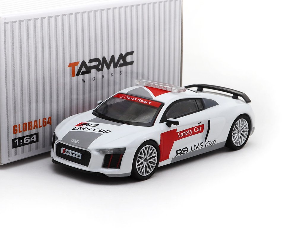 Tarmac Works 1 64 Audi R8 Lms Cup Safety Car Silver Multi